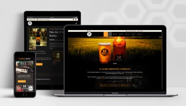 ClearCell Web Design Portlaoise 12acres Brewing Porfolio Freatured Image(1)
