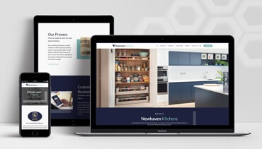 ClearCell Web Design Portlaoise New Newhaven Kitchens Porfolio Freatured Image