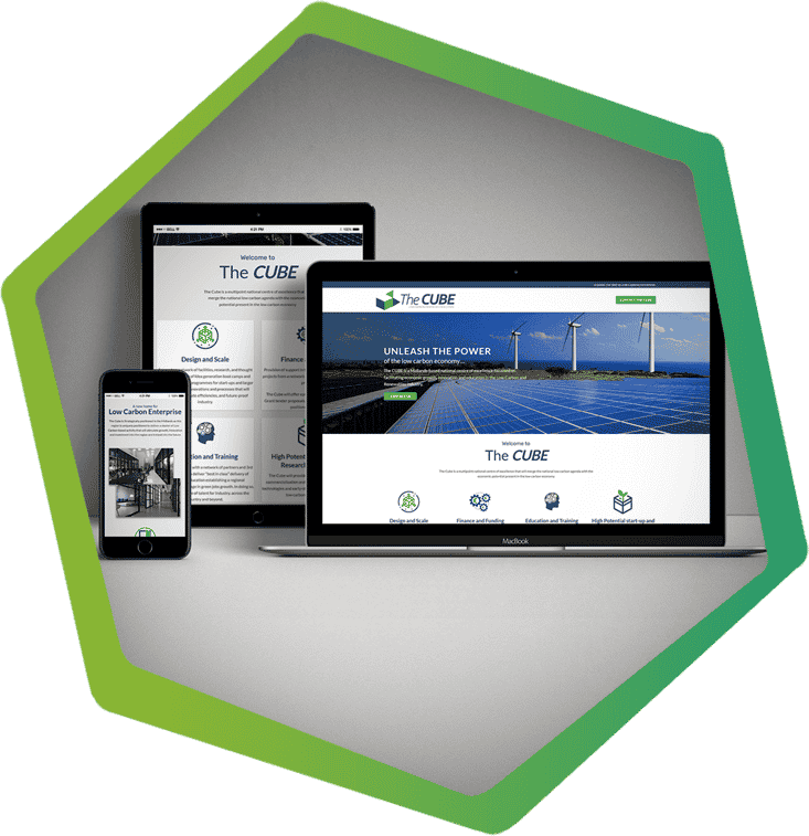The Cube Portlaoise, portfolio post main image, Laois website design, clearcell web design
